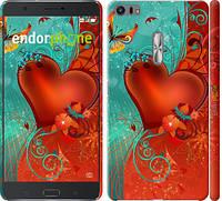 "Чехол на Asus Zenfone 3 Ultra ZU680KL Сердце в цветах ""220c-788-5114"""