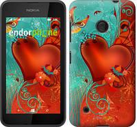 "Чехол на Nokia Lumia 530 Сердце в цветах ""220u-205-5114"""