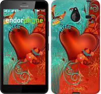 "Чехол на Microsoft Lumia 640 XL Сердце в цветах ""220u-168-5114"""