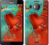 """Чехол на Microsoft Lumia 950 XL Dual Sim Сердце в цветах """"220c-407-5114"""""""