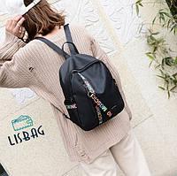 Женский стильный рюкзак Moschino черного цвета
