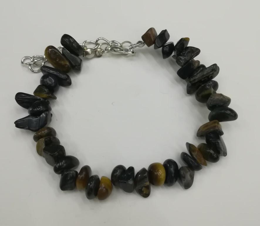 Браслет Соколиный глаз крошка, натуральный камень, тм Satori \ Sb - 0158