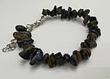 Браслет Соколиный глаз крошка, натуральный камень, тм Satori \ Sb - 0158, фото 2