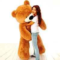 Огромный плюшевый медведь Бублик 200 см (коричневый), фото 1