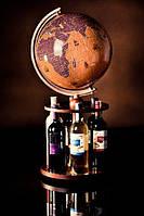 Глобус Glowala 320мм ретро с парусниками вращающаяся подставка для вина (русский язык)