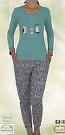 Яркий комплект для девушек с штанами