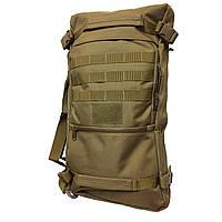Сумка рюкзак большого размера 28-35 л. Трансформеры. Черный, хаки и зеленый.
