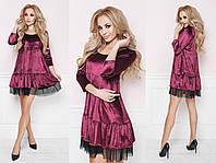 Платье бархат+сетка норма Мод 291 (AMBR)
