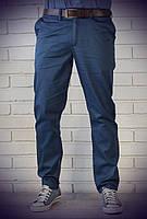 Мужские классические брюки чиносы синего цвета