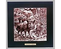 Панно настенное «Охота. Кабаны», 20х20, 28,5х28,5 см