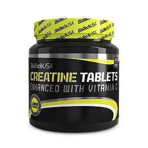Креатин BioTech Creatine Tablets 200 tabs lemon