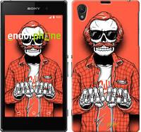 "Чехол на Sony Xperia Z1 C6902 Скелет в очках ""4192c-38-5114"""