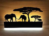 Led подсветка интерьера в стиле SAFARI