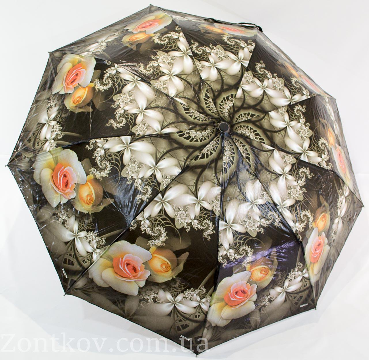 "Женский зонт полуавтомат лакє от фирмы ""SUSINO"""