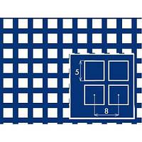 Лист перфорированный  нержавеющий  с квадратными  отверстиями 5,0 *5,0 шаг 8,0 толщина 1,0 мм размер 1000*2000