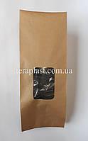 Пакет с центральным швом крафт+окно 1кг 135х360х35