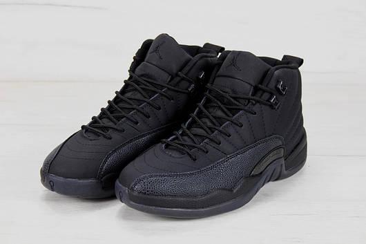 Кроссовки мужские Nike AIR Jordan 12 Retro Black, найк джордан, реплика 13aaaa58df0