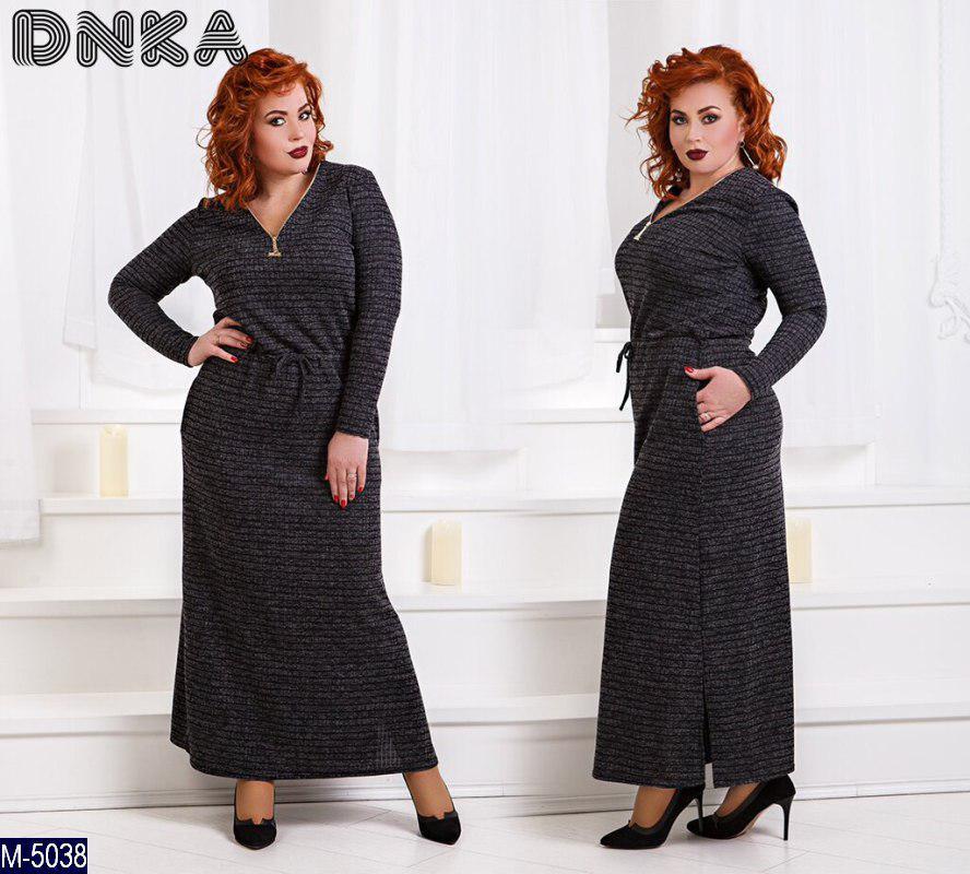 6e4030b269f Стильное женское платье большого размера  50-52