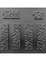 """Форма для декоративного каменю та плитки """"Піксель"""" (6 форм)"""