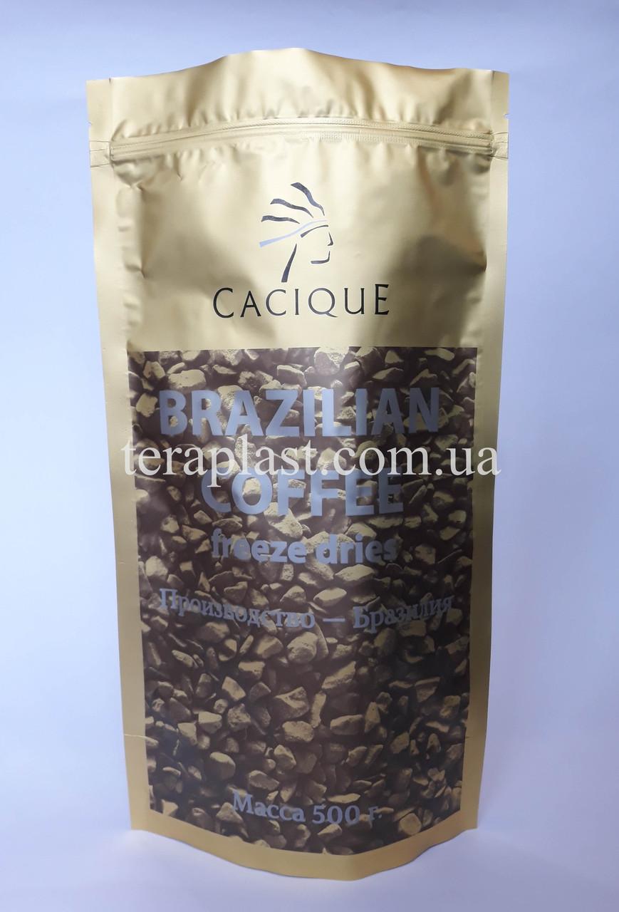 Пакет Дой-Пак золото 1кг 210х380 с печатью (3+0)