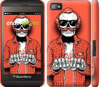 "Чехол на Blackberry Z10 Скелет в очках ""4192c-392-5114"""