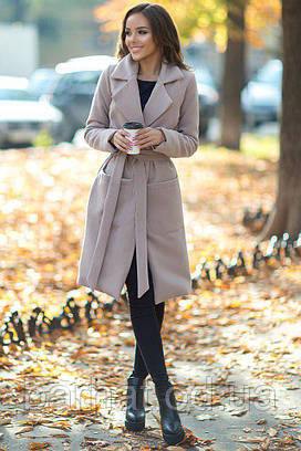 Пальто с запахом с кашемира (42-44 р.) женское