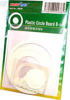 Набор пластиковых кружков и колец d 1,0-80 мм, толщина 0.5 мм B-set (63 шт)