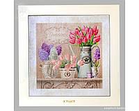 Панно настенное «Прованс. Тюльпаны», 33х33, 41х41 см