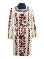 Вязаное платье Роза яркая рамочка