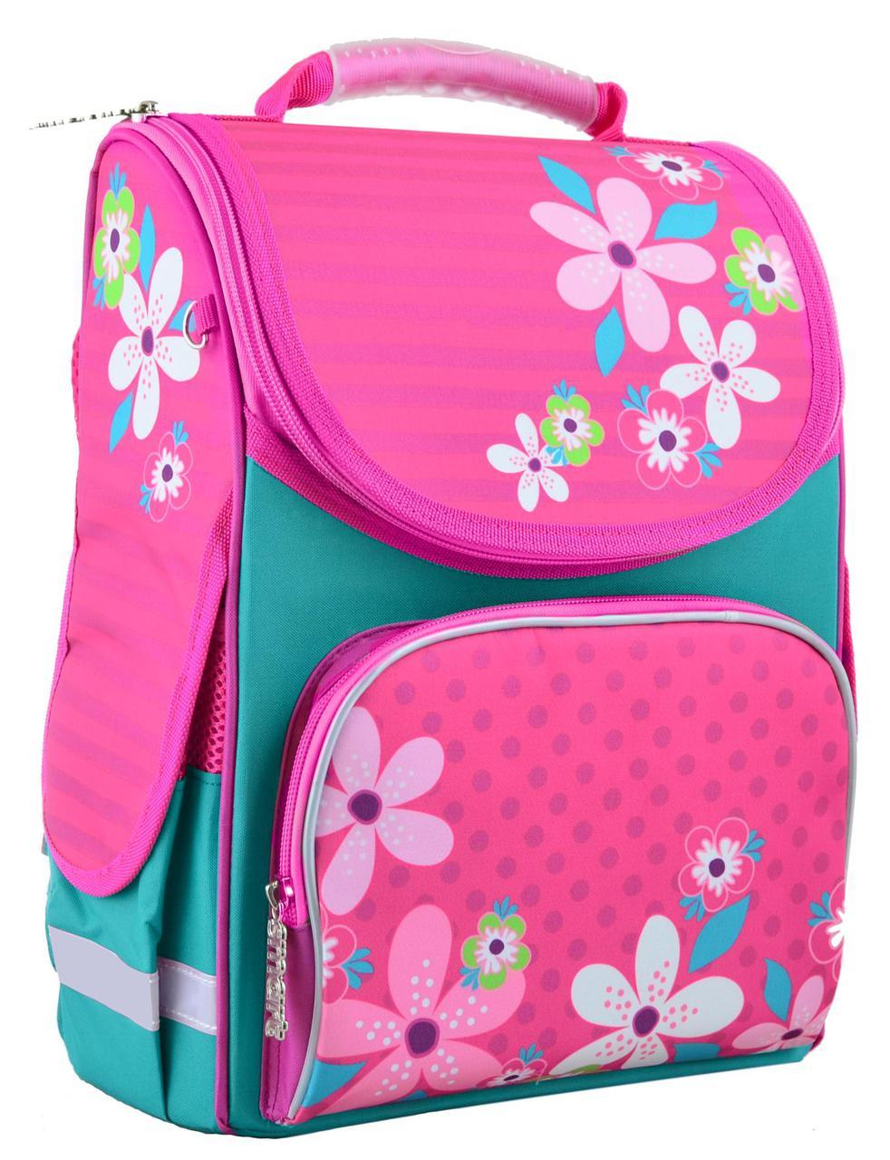 447cd7948a86 Рюкзак каркасный 1 вересня Smart PG-11 Flower pink 554445 -  Интернет-магазин Kindermir