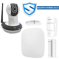 Комплект сигнализации Ajax StarterKit white + IP-видеокамера AI-361