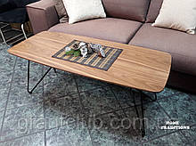 Журнальний стіл LYON B фабрика Nicolas натуральний горіх