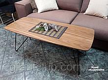 Журнальный стол LYON B фабрика Nicolas натуральный орех