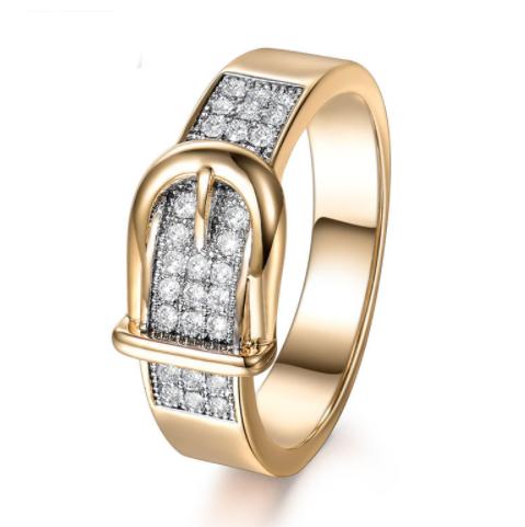 ddd324e9b9a7 Позолоченное кольцо женское с фианитами р 16 17 18 код 1319 16 - Интернет  магазин