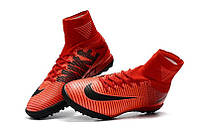 Сороконожки Nike Mercurial Superfly V TF Fire Red (сороконожки найк) красные