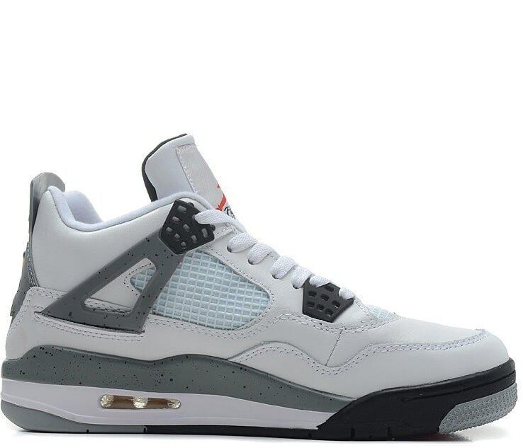 Мужские Баскетбольные Кроссовки Nike Air Jordan IV Retro White Black ... 5a30011745a