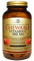 Solgar, Жевательный витамин C, с натуральным малиново-клюквенным вкусом, 500 мг, 90 жевательных таблеток