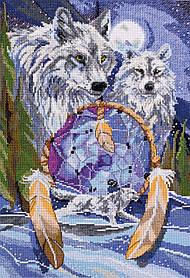 """Набор для вышивания крестиком волки """"Ловец снов"""""""