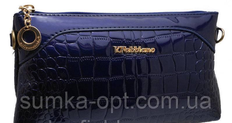Дешевые женские клатчи 15*25 (черный,синий лак)