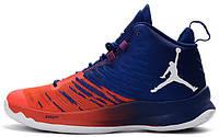 Баскетбольные кроссовки Jordan Super Fly 5 Blake Griffin Blue Red (Найк Аир Джордан 5)