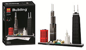 Конструктор Bela 10677 Архитектура Чикаго (аналог Lego Architecture 21033)