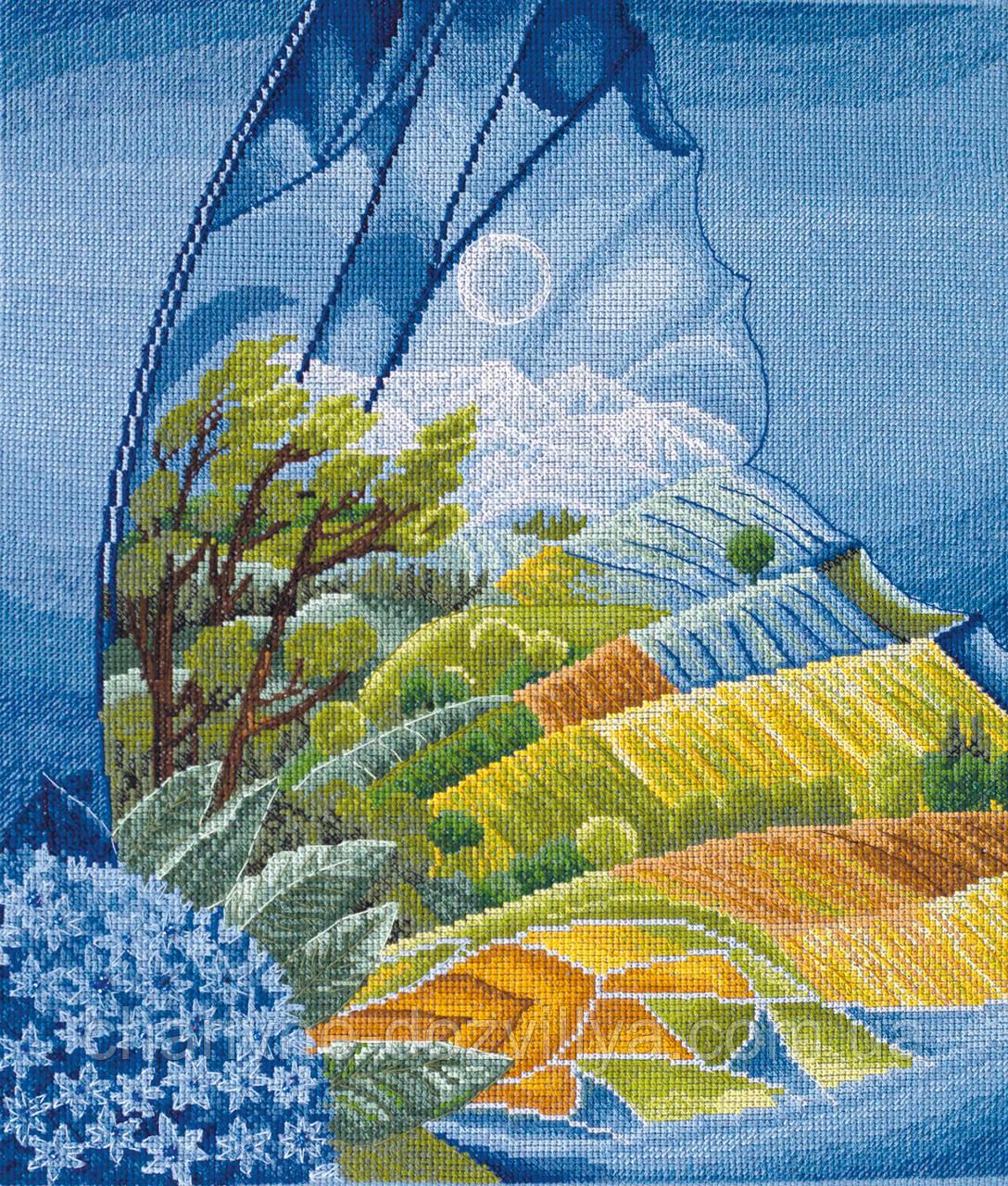 """Набор для вышивки крестиком пейзаж """"Крылатая фантазия"""""""