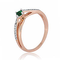 Серебряное кольцо позолоченное с фианитом К3ФИ/306 - 15,9