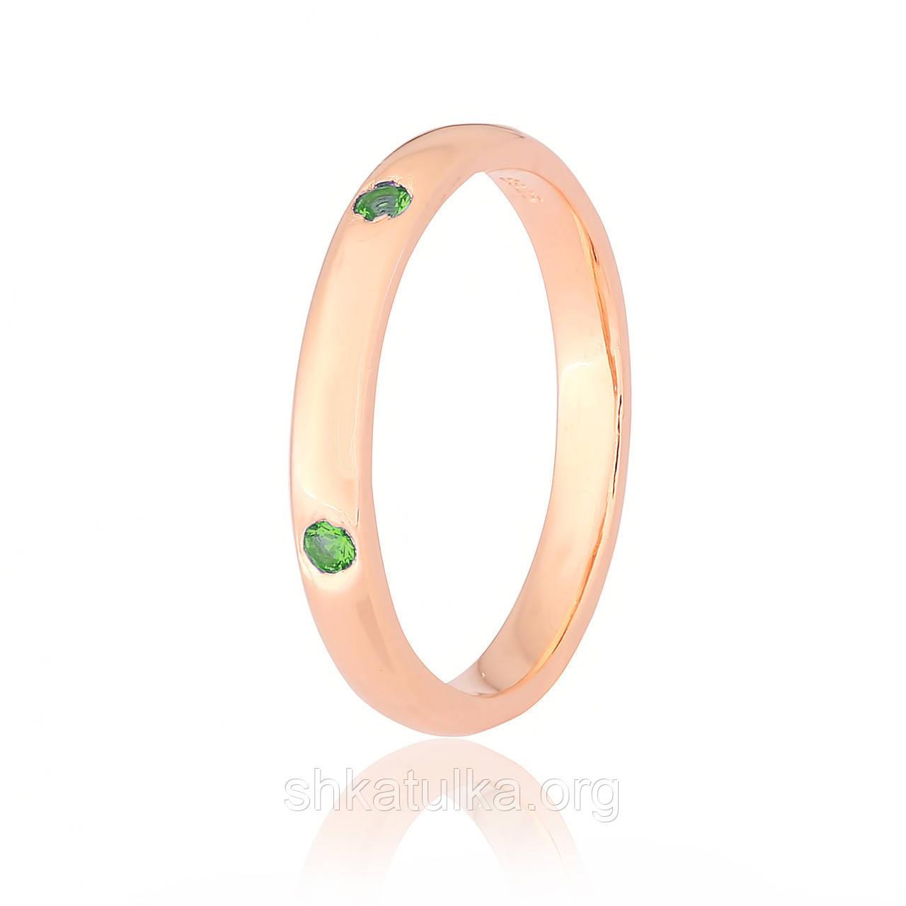 Серебряное кольцо позолоченное с фианитом К3ФИ/812 - 17,1
