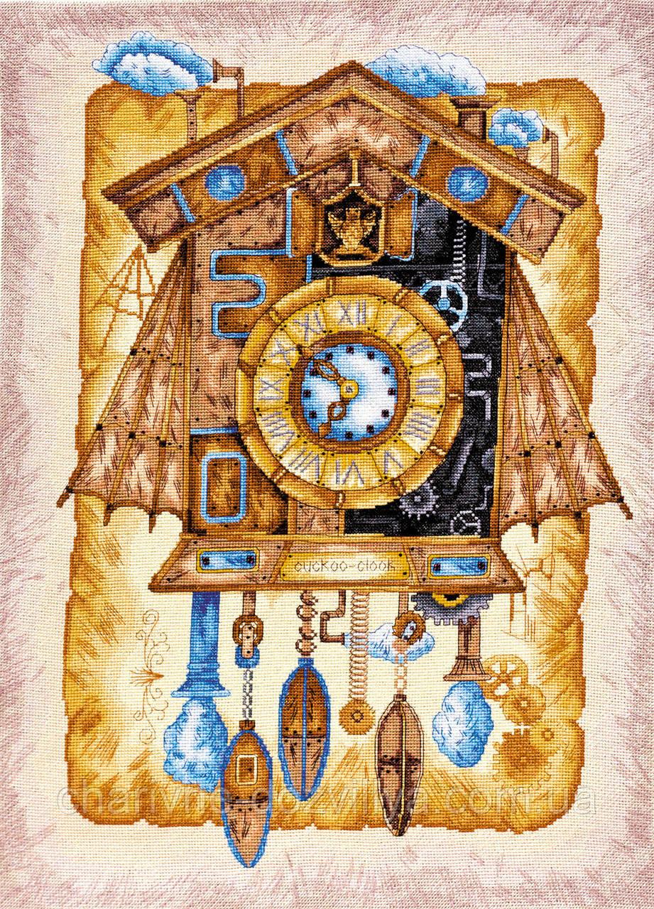 """Набор для вышивки крестиком натюрморт """"Часы с кукушкой"""""""