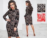 Шикарное вечернее платье, вышивка на сетке, микромасло кристалл,  размер 42-46