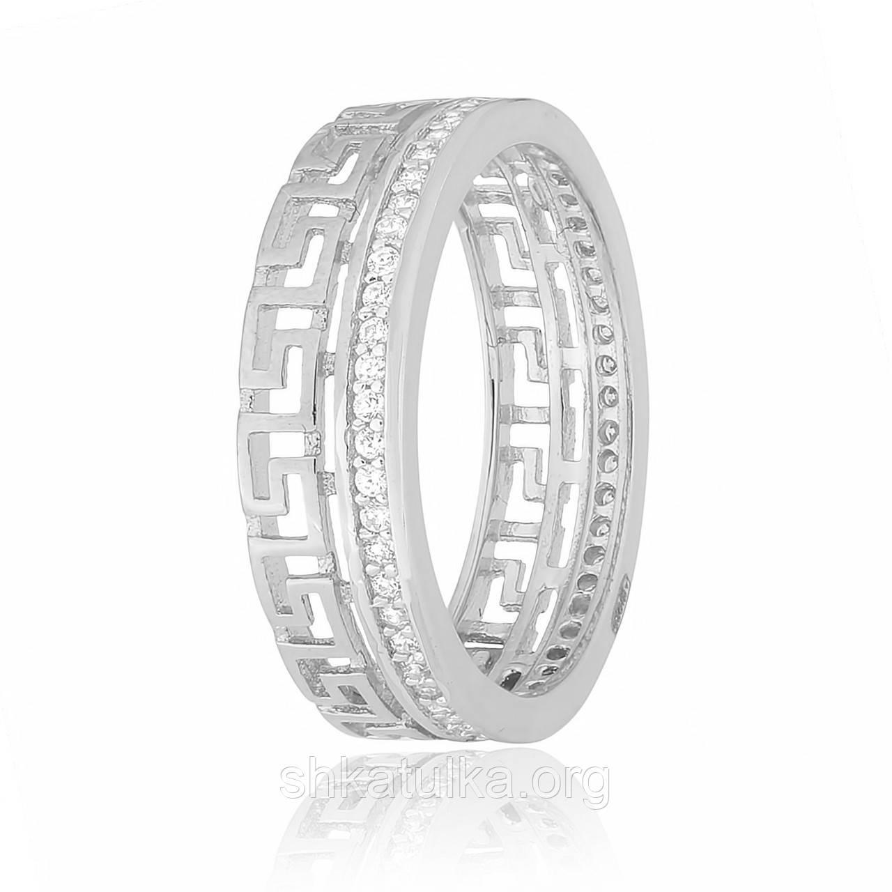 Серебряное кольцо с фианитом КК2Ф/218 - 15,2