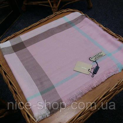 Платок Burberry розовый, фото 3