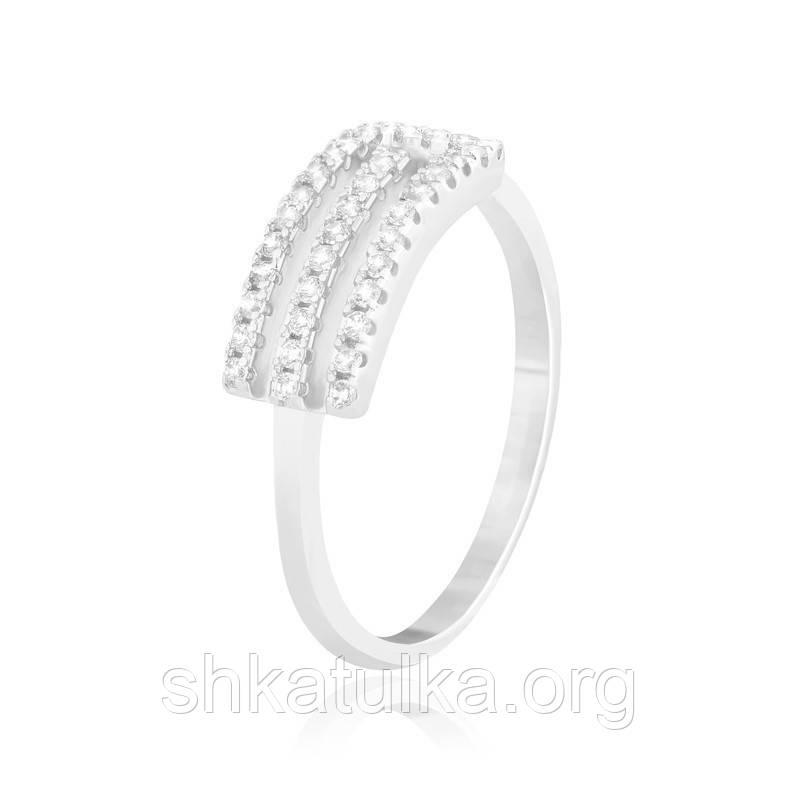 Серебряное кольцо с фианитом КК2Ф/234 - 18,4