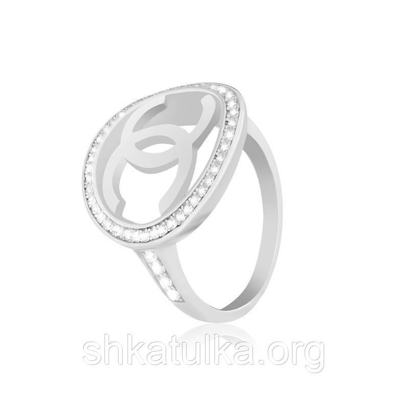 Серебряное кольцо с фианитом КК2Ф/244 - 17,1